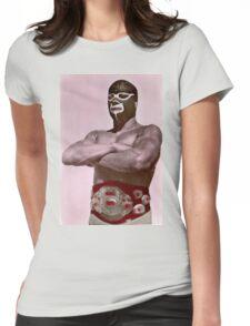 Luchador enmascarado Womens Fitted T-Shirt