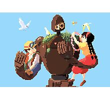8 bit Castle in the sky Photographic Print