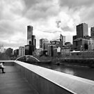 Pause for reflection - Melbourne Australia by Norman Repacholi