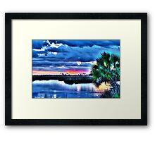 Blue Clouds at Sunset Framed Print