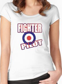 Fighter Pilot UK Women's Fitted Scoop T-Shirt