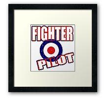 Fighter Pilot UK Framed Print