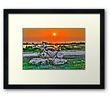 Old Plow at Sunset Framed Print