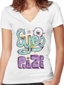 Eyes On The Prize! Women's Fitted V-Neck T-Shirt