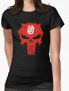 Daredevil The Punisher Symbol Womens Fitted T-Shirt