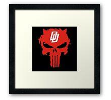 Daredevil The Punisher Symbol Framed Print