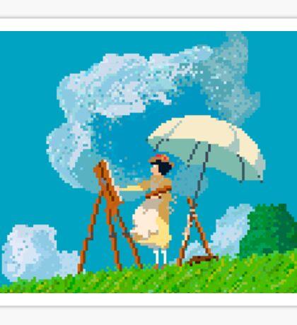 8 bit The wind rises Sticker