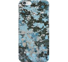 Blue Peeling Paint Abstract Texture iPhone Case/Skin