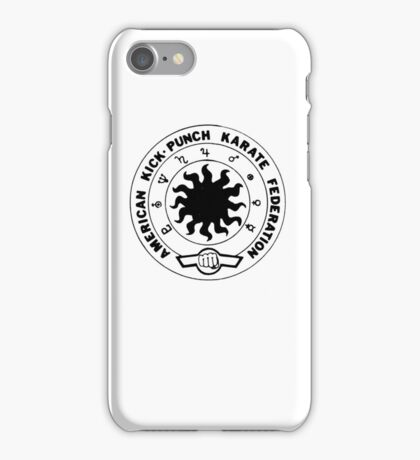 american kick punch karate federation iPhone Case/Skin
