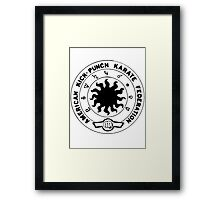 american kick punch karate federation Framed Print