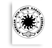 american kick punch karate federation Canvas Print