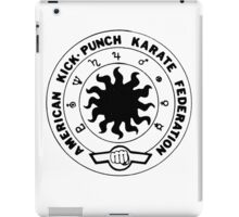 american kick punch karate federation iPad Case/Skin