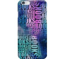 Books Blue and Purple Galaxy Type iPhone Case/Skin