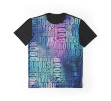 Books Blue and Purple Galaxy Type Graphic T-Shirt
