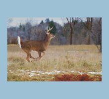 Deer Run - White-tailed deer Kids Tee