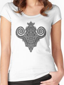 trip drawing Women's Fitted Scoop T-Shirt