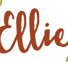 Ellie lovely name and floral bouquet wreath Sticker