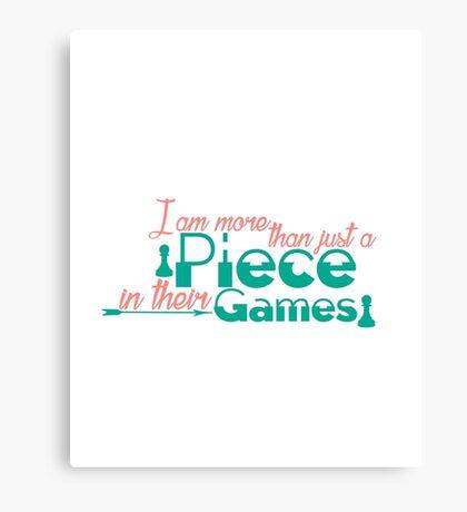 Piece In Their Games Canvas Print