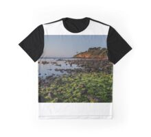 Cliff at low tide at Royal Beach, Mornington Graphic T-Shirt