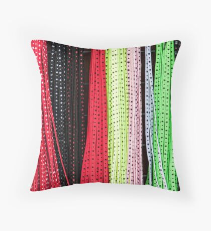 Coloured laces Throw Pillow