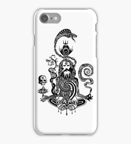 Pray black and white iPhone Case/Skin