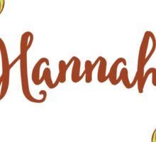 Hannah lovely name and floral bouquet wreath Sticker