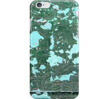Blue Green Peeling Paint Abstract Background Texture iPhone Case/Skin
