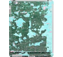 Blue Green Peeling Paint Abstract Background Texture iPad Case/Skin