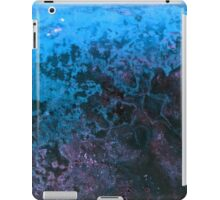 Blue Paint Abstract Background Texture iPad Case/Skin