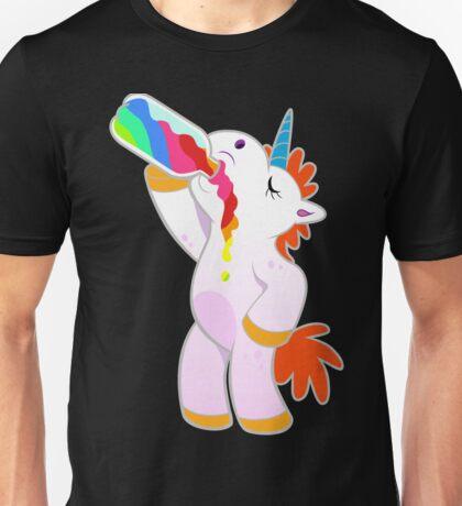 Drunk Unicorn rainbow Unisex T-Shirt