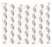 Barn owl drawing Wall Tapestry