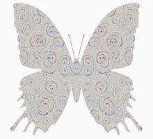 #DeepDream White Butterfly One Piece - Short Sleeve