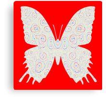 #DeepDream White Butterfly Canvas Print
