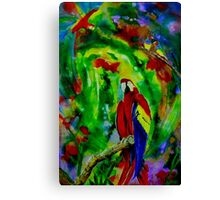 Macaw's World Canvas Print
