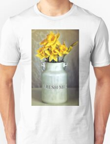 Milk Jug and Daffodils  Unisex T-Shirt