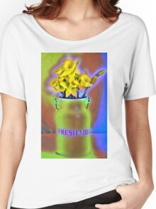 Milk Jug and Daffodils  Women's Relaxed Fit T-Shirt