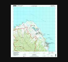 USGS TOPO Map Hawaii HI Kahuku 349332 1998 24000 Unisex T-Shirt
