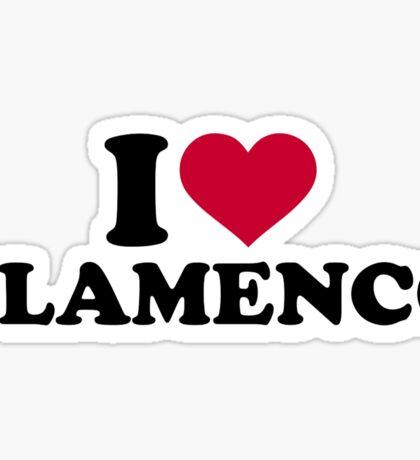 I love Flamenco Sticker