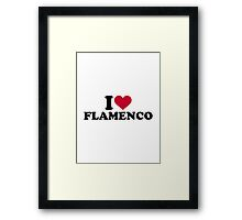 I love Flamenco Framed Print