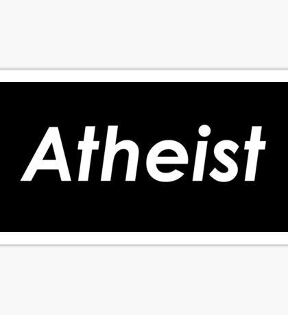 Atheist text Sticker