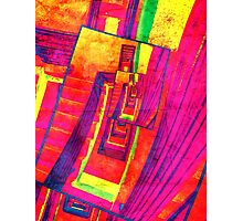 Pop Art Stairwell Abstract Photographic Print