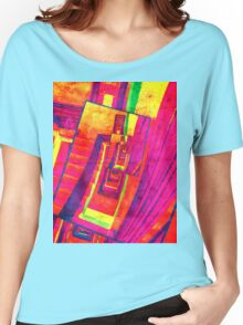 Pop Art Stairwell Abstract Women's Relaxed Fit T-Shirt