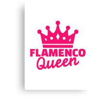 Flamenco queen Canvas Print