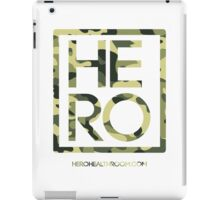 HERO GREEN CAMO SQUARE iPad Case/Skin