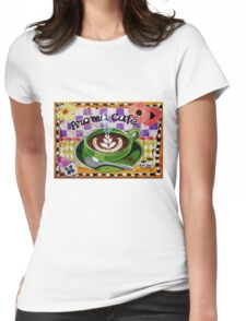 Aroma Cafe Womens Fitted T-Shirt