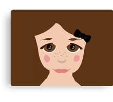 Brown Eyed Girl Freckles  Canvas Print