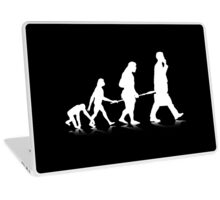 Human Evolution (white) Laptop Skin