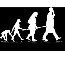 Human Evolution (white) Photographic Print