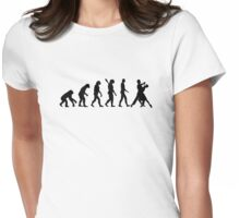 Evolution foxtrot dancing Womens Fitted T-Shirt