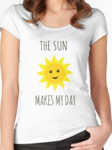 The sun makes my day Women's Fitted Scoop T-Shirt